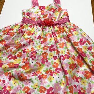 Girls Sweet Heart  Rose floral dress, size 6